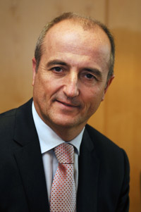 Spanish Industry Minister Miguel Sebastian - previously Assistant Director-General of BBV and BBVA banks. BBVA has been especially active in the arms business and slammed for its links to cluster munition manufacture.