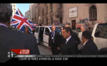Still - Sarkozy and Cameron at the lynching site