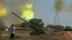 Rebel artillery bombarding Sirte