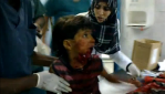Child victim in Sirte. 25 September 2011