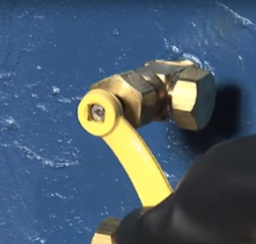Valve - Opening the valve stem